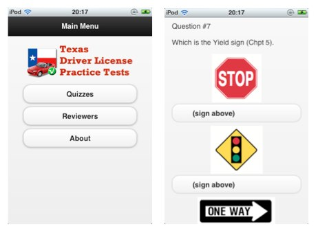 Texas Driver License iOS App