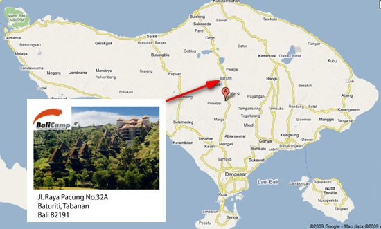 Bali Camp Pacung Map and Address