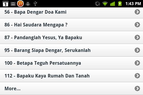 more list option