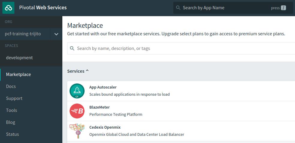 Autoscaler Service on PCF Marketplace