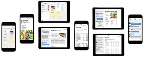 Quip on different screens
